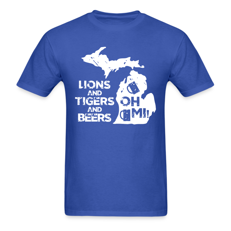 LIONS & TIGERS & BEERS, OH MI! - Men's T-Shirt