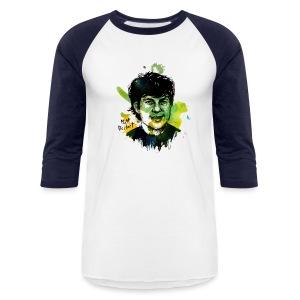 Molly Crabapple painting of Matt DeHart on T-Shirt - Baseball T-Shirt
