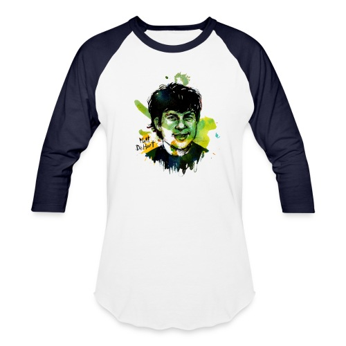 Molly Crabapple painting of Matt DeHart on T-Shirt - Baseball T-Shirt