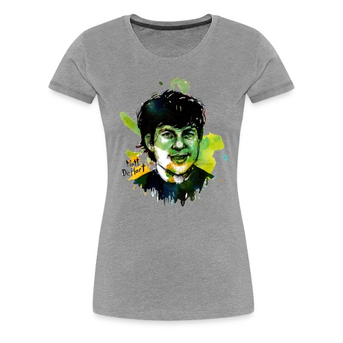 Molly Crabapple painting of Matt DeHart on T-Shirt - Women's Premium T-Shirt