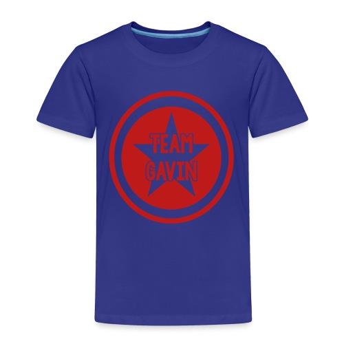 toddler red glitter team gavin shirt - Toddler Premium T-Shirt