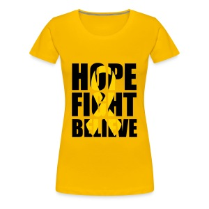 Hope Fight Believe Endo womens shirt - Women's Premium T-Shirt