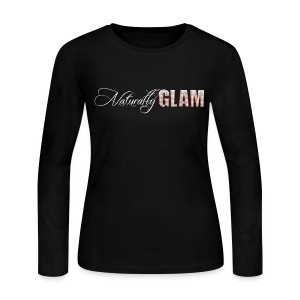 White 'Naturally Glam' Long Sleeve Tee - Women's Long Sleeve Jersey T-Shirt