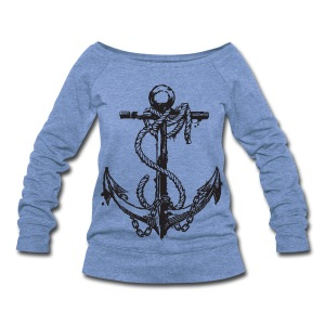 Vintage Anchor Shirt - Women's Wideneck Sweatshirt