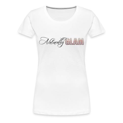 Black 'Naturally Glam' Short Sleeve Tee - Women's Premium T-Shirt