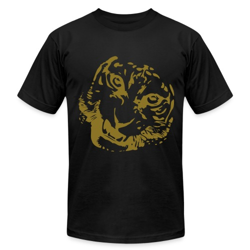 Sweet Tiger Tee - Metalic Gold Print - Men's Fine Jersey T-Shirt