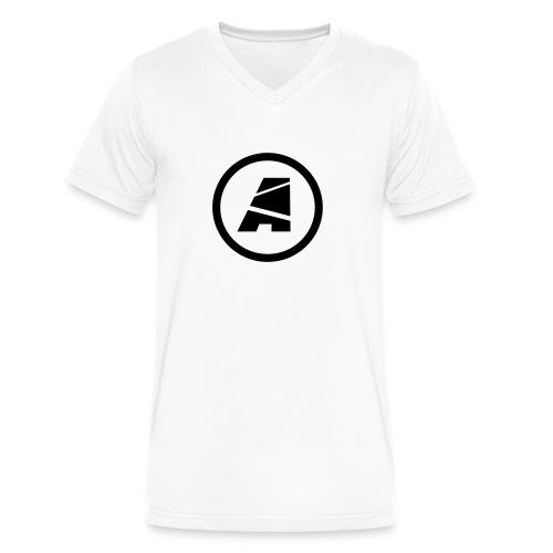 Men's V Neck  - Icon Only (Black) - Men's V-Neck T-Shirt by Canvas