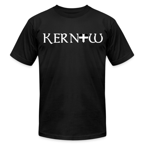 Kernow Heart - Men's T-Shirt by American Apparel