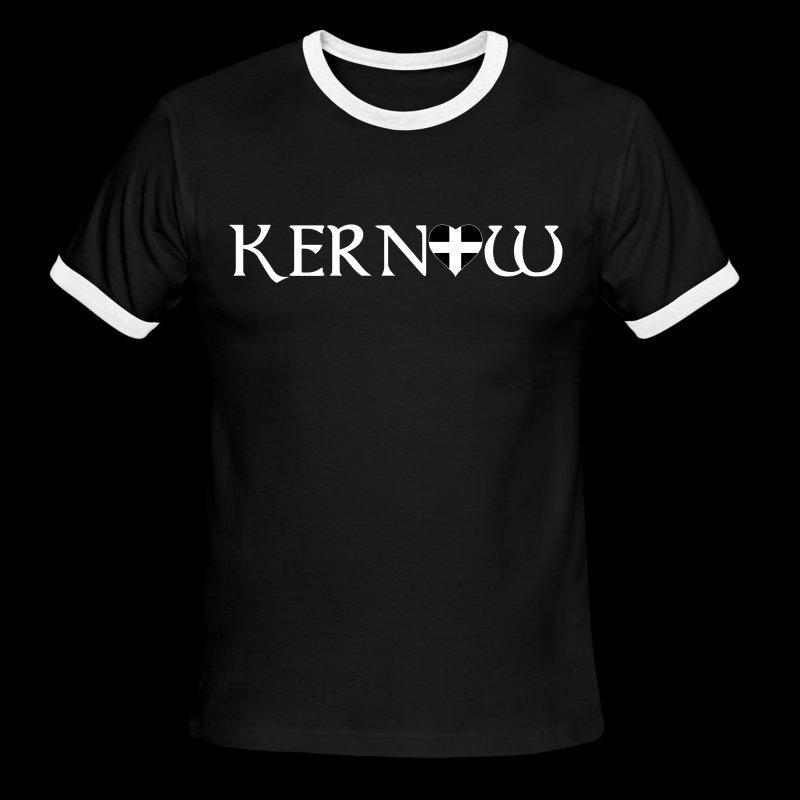 Kernow Heart - Men's Ringer T-Shirt