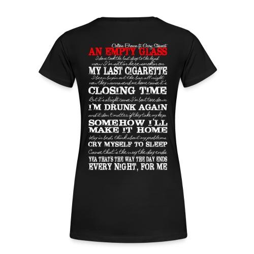 Colton Brown - Empty Glass Lyrics Tee - Women's Premium T-Shirt