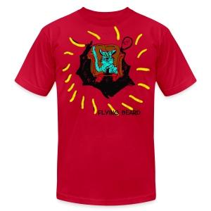 Cat Flying Beard - Rough Drawing - Men's Fine Jersey T-Shirt