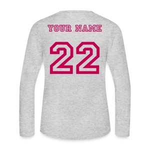 BACK PRINT T - Women's Long Sleeve Jersey T-Shirt