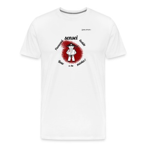 Password Sensei black on white - Men's Premium T-Shirt