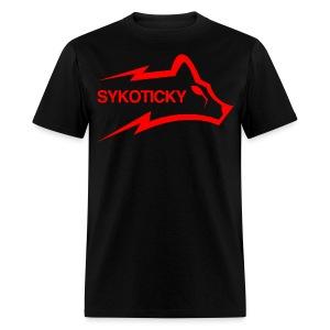 Sykoticky Red logo t-shirt - Men's T-Shirt