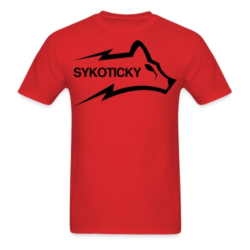 Sykoticky black logo t-shirt - Men's T-Shirt