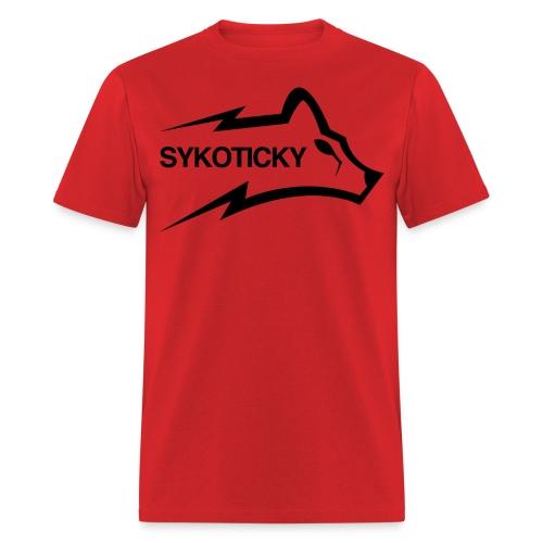 Sykoticky black logo t-shirt - Men's T-Shirt