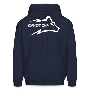 Sykoticky white logo hoodie - Men's Hoodie
