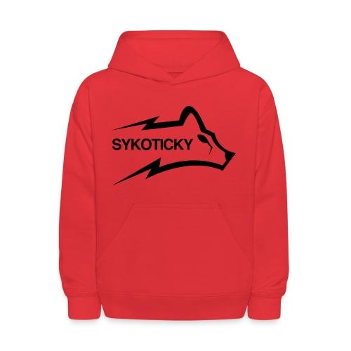 Sykoticky black logo kids hoodie - Kids' Hoodie