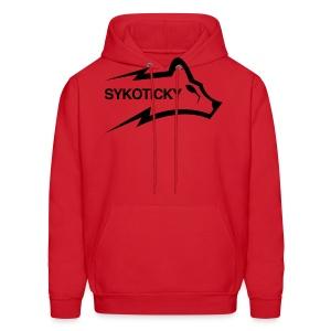 Sykoticky red logo hoodie - Men's Hoodie