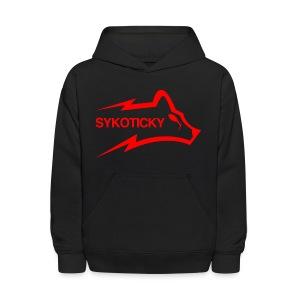 Sykoticky red logo kids hoodie - Kids' Hoodie