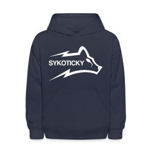 Sykoticky white logo kids hoodie - Kids' Hoodie