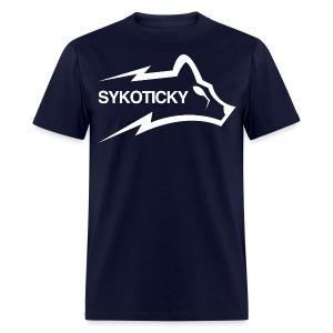 Sykoticky white logo t-shirt - Men's T-Shirt