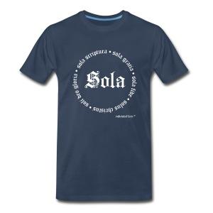 5 Sola White - Men's Premium T-Shirt