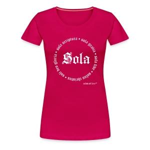 5 Sola White (Women) - Women's Premium T-Shirt