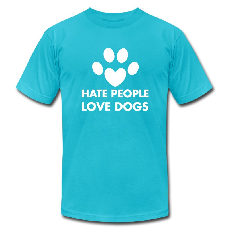 Love Dogs - Men's T-Shirt by American Apparel