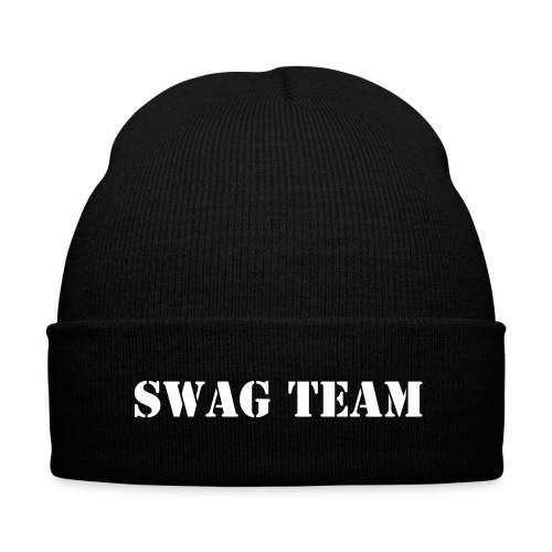 Swag Team - Knit Cap with Cuff Print