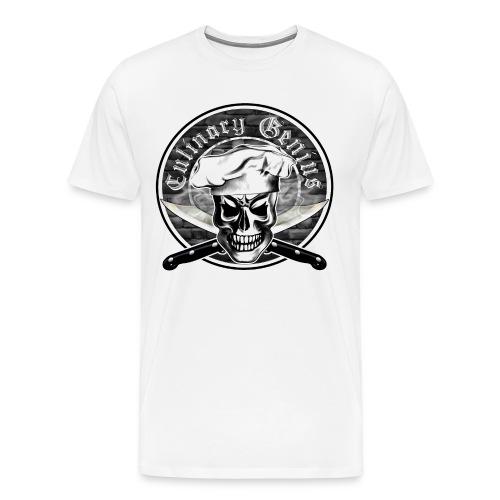 Chef Skull 3: Culinary Genius  - Men's Premium T-Shirt