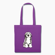 Funny Bearded Collie Bags & backpacks