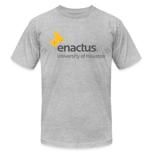 Unisex - Grey Text  - Men's Fine Jersey T-Shirt