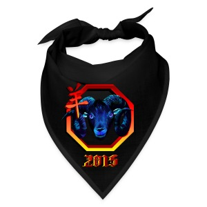 Black Ram-red hex-2015 - Bandana