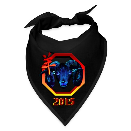 Black Ram-red hex-2015 - Bandana