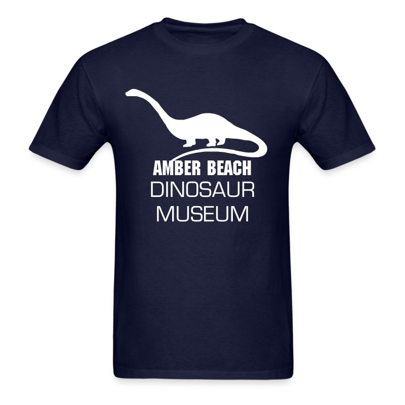 Amber Beach Dinosaur Museum - Men's T-Shirt