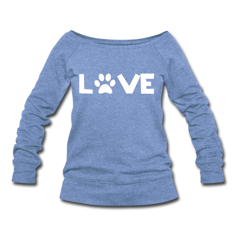 Love Dogs - Women's Wideneck Sweatshirt