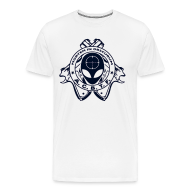 T-Shirts ~ Men's Premium T-Shirt ~ ALIEN CAVE BASE TASK FORCE (White Big Boy Size)