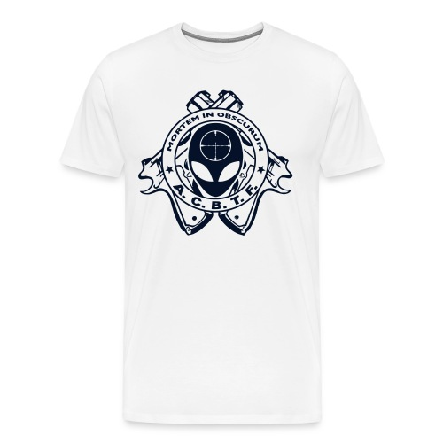 ALIEN CAVE BASE TASK FORCE (White Big Boy Size) - Men's Premium T-Shirt