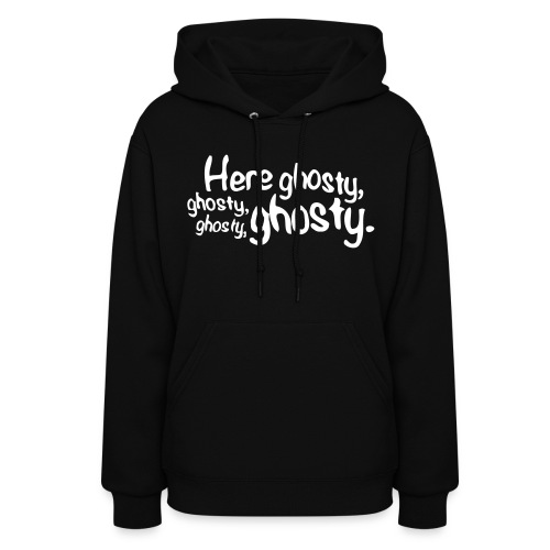 Female Hoodie With Here Ghosty design - Women's Hoodie