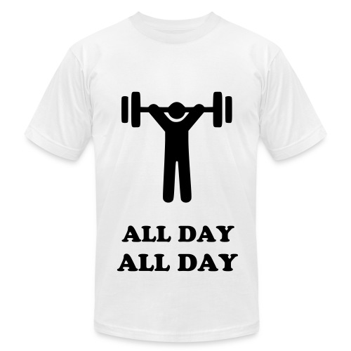 Gym, All Day - Men's  Jersey T-Shirt