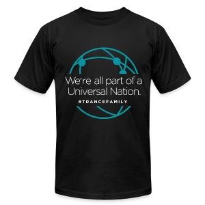 M.I.K.E. Push Universal Nation Black - Men's Fine Jersey T-Shirt