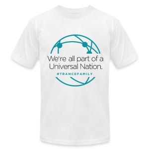 M.I.K.E. Push Universal Nation White - Men's Fine Jersey T-Shirt