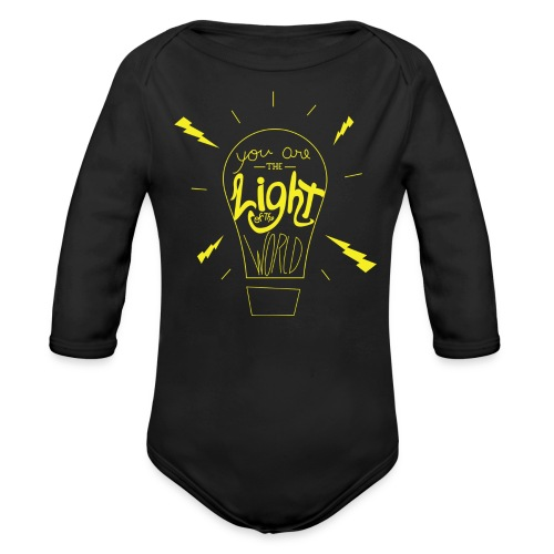 Light Of The World - Organic Long Sleeve Baby Bodysuit