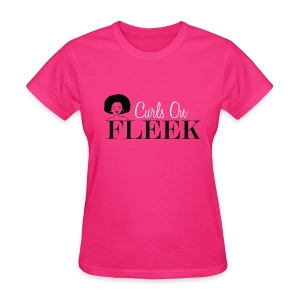 Curly Girls on Fleek - Women's T-Shirt