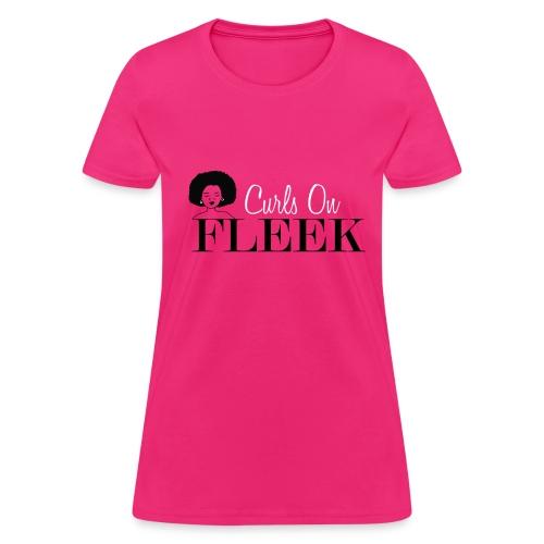 Curly Girls on Fleek - Women's T-Shirt