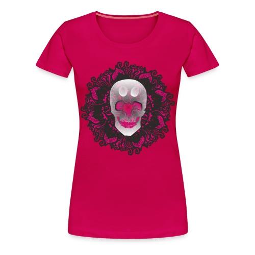 Beautiful Pink Skull - Women's Premium T-Shirt