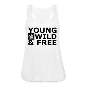 Young, Wild & Free - Women's Flowy Tank Top by Bella
