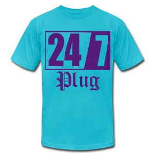 AA 247Plug - Men's T-Shirt by American Apparel