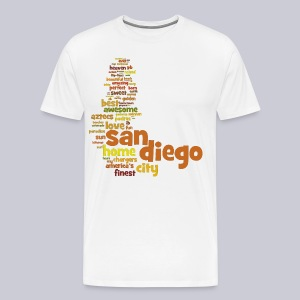 San Diego Words - Men's Premium T-Shirt